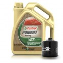 Kit vidange K&N + CASTROL Power 1 Racing 4T 10W40